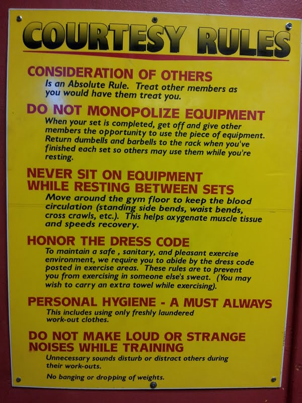 Gym rules signs related keywords long